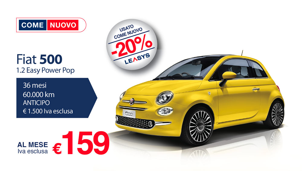 come nuovo 500 yellow